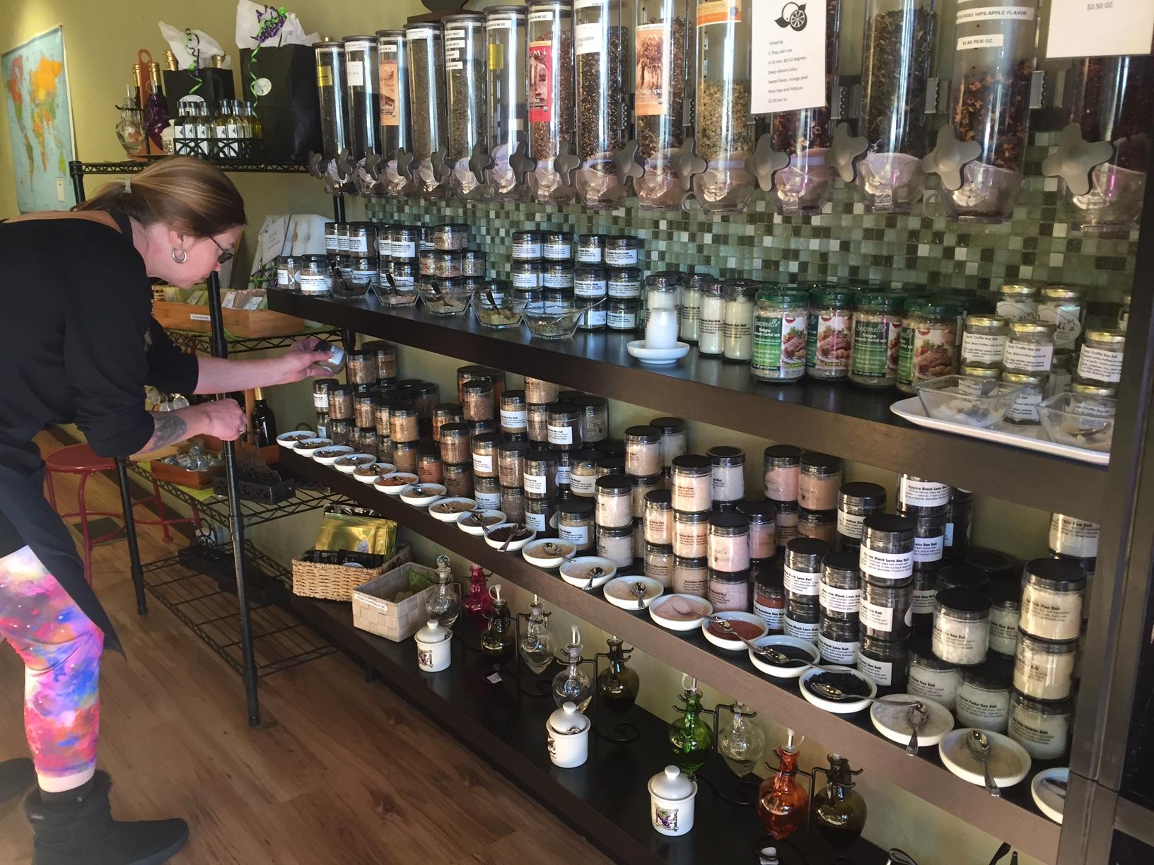 Salt selection at Navidi's in Bend, OR