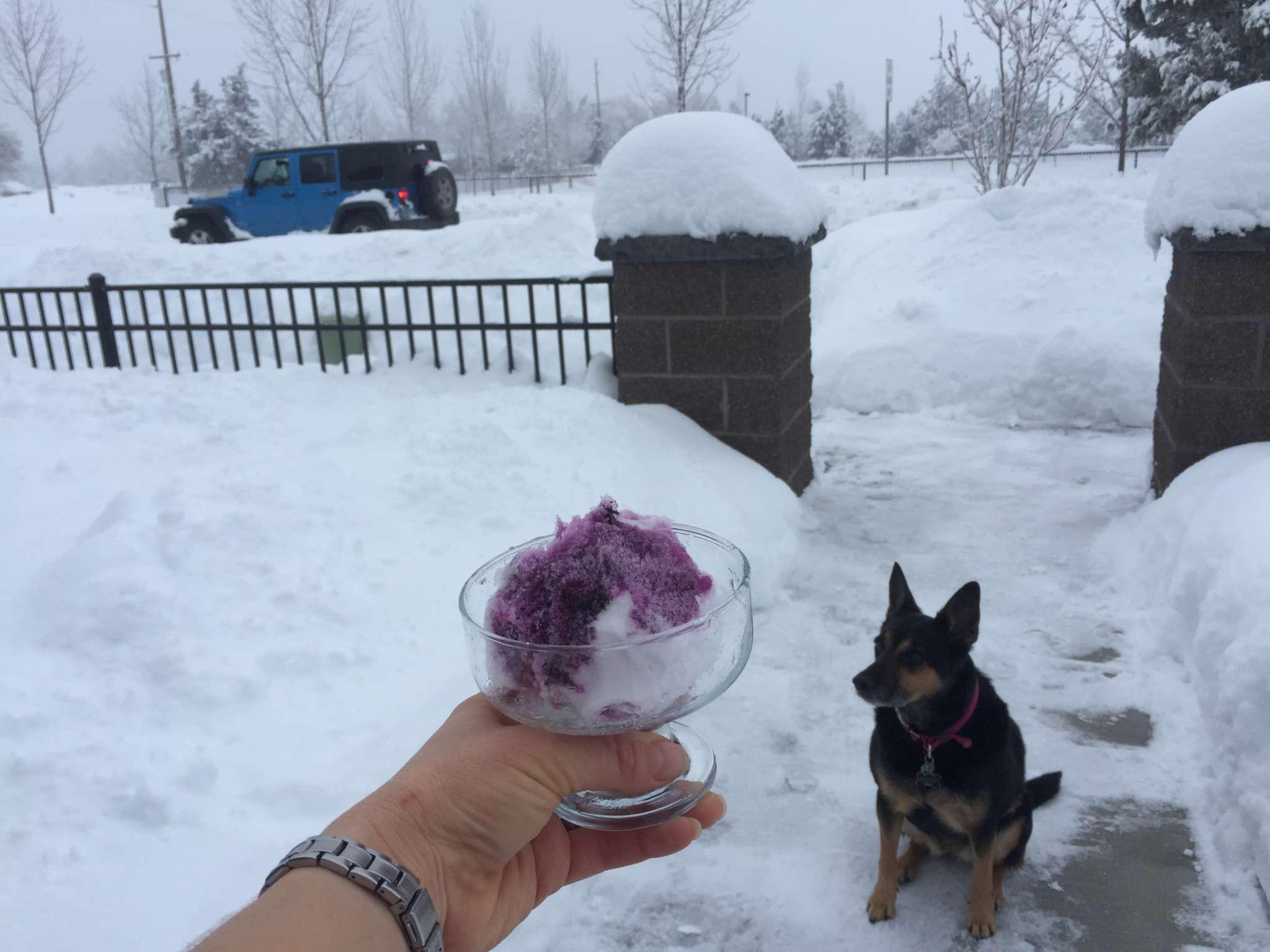 Make a snow cone in Bend, Oregon.