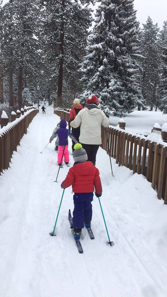 Cross country ski at Drake Park in Bend, Oregon