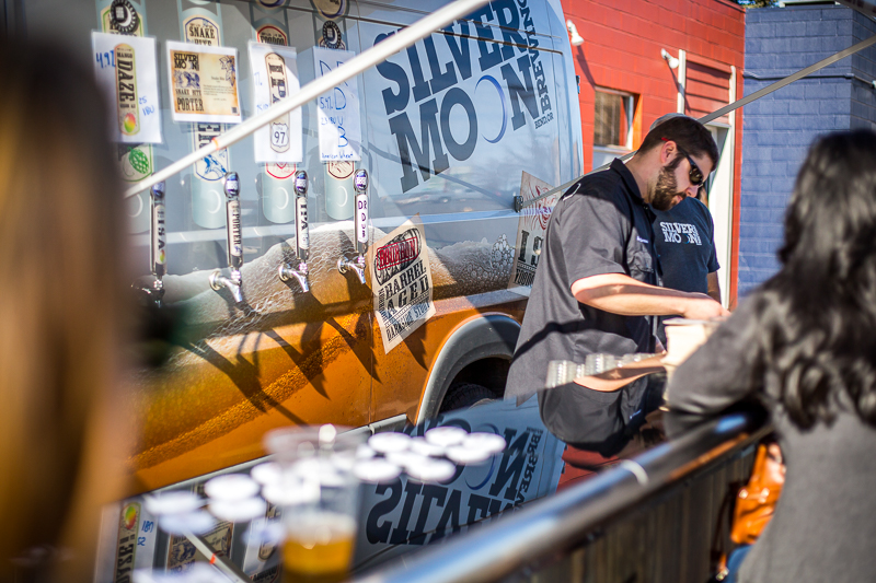 Depending on weather, many of the breweries serve up Zwickelmania suds outdoors.