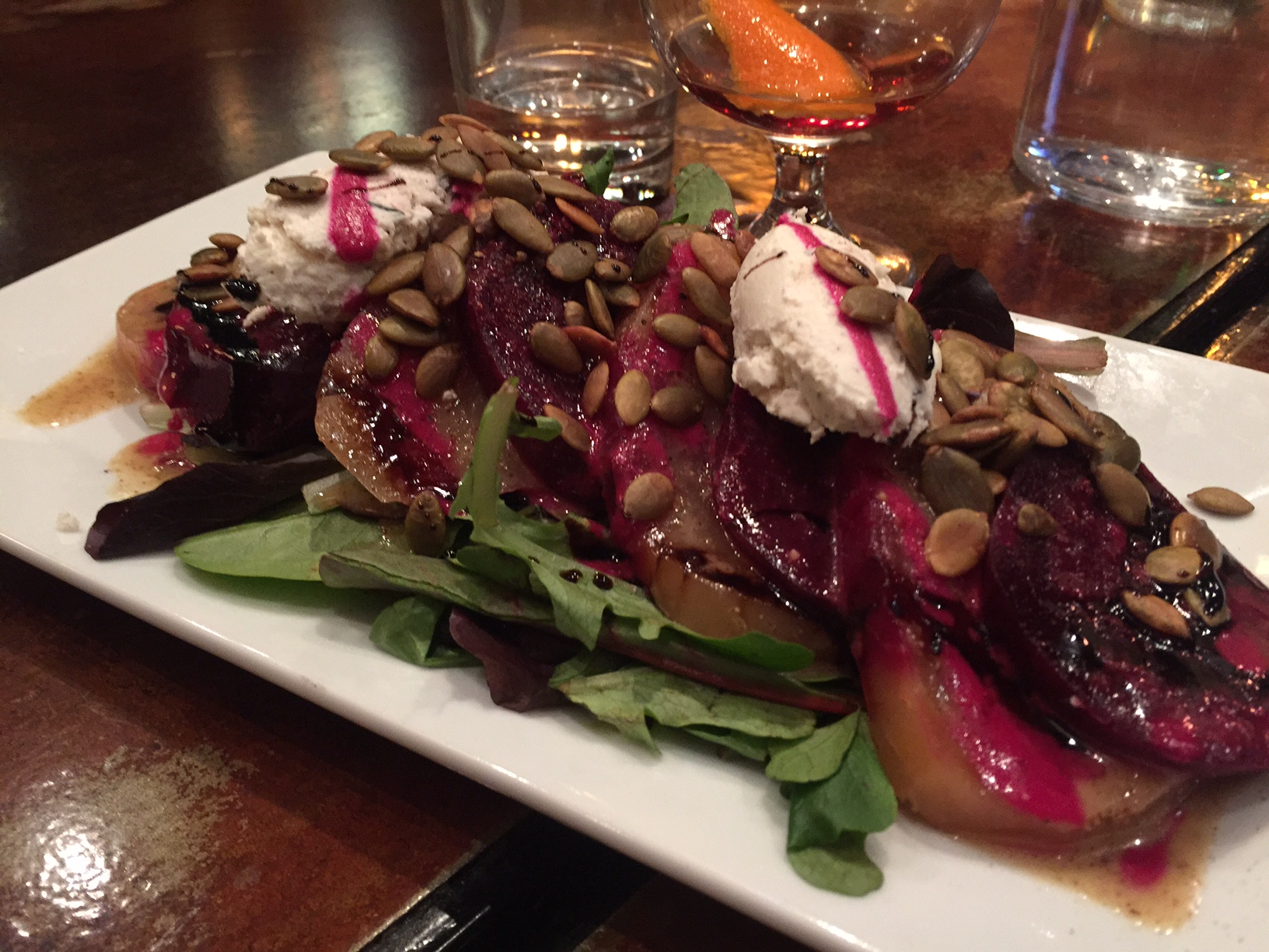 Beet salad in Bend, Oregon