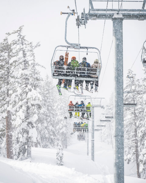 Chair lift at Mt Bachelor in Bend, Oregon