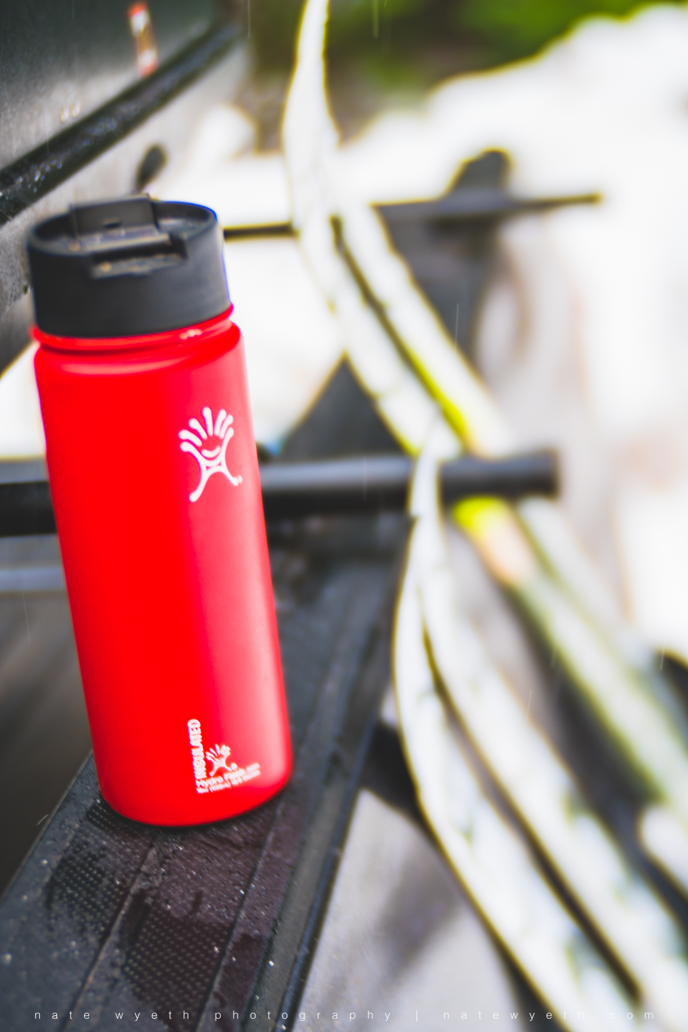 HyrdroFlask reusable and insulated water bottle.