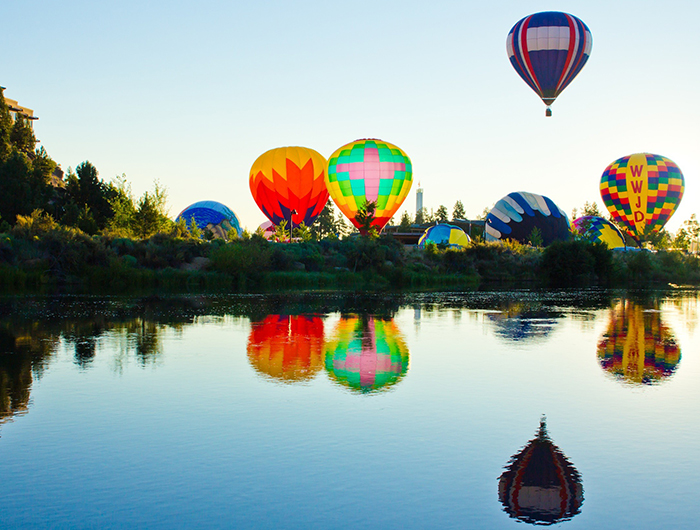 Balloons over Bend happens every July, and Bend lodging books early during the event.