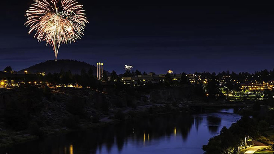 4th of July Fireworks on Pilot Butte