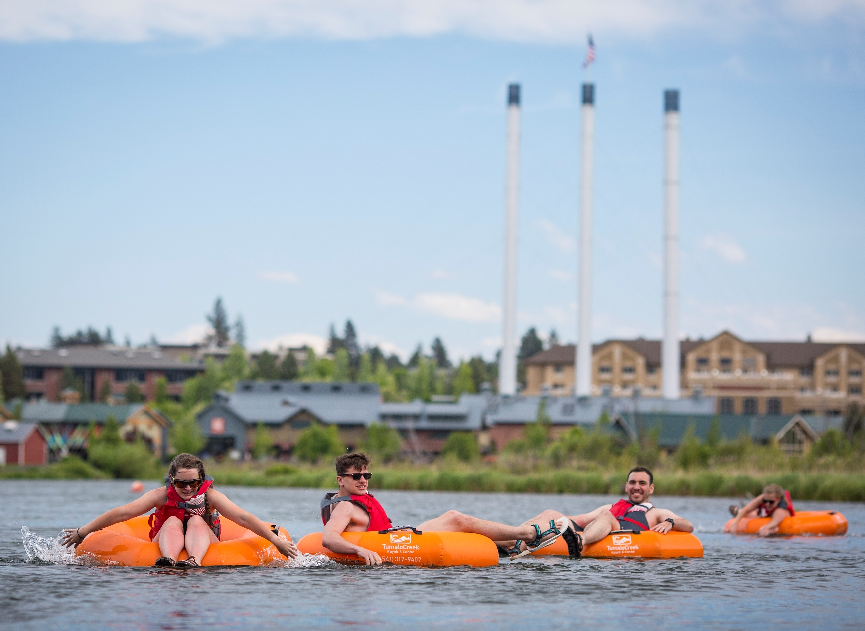 Floating the Deschutes River in Bend
