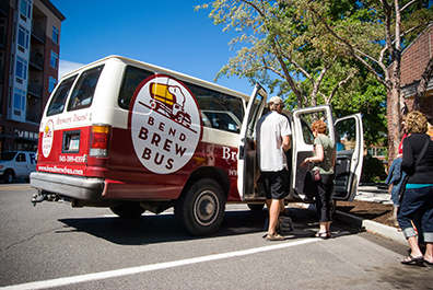 There are many excellent ways to refrain from drinking and driving in Bend, and the Bend Brew Bus is one of the best.