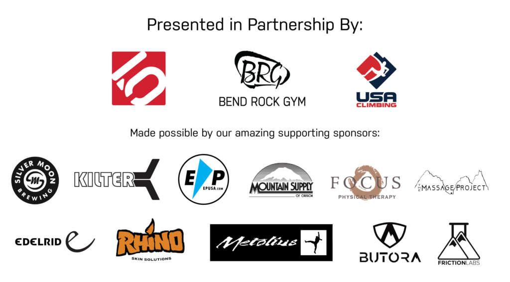 Bend Bouldering Bash Sponsors