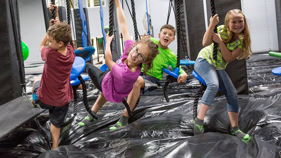 Trampoline Zone Ninja Warrior Course