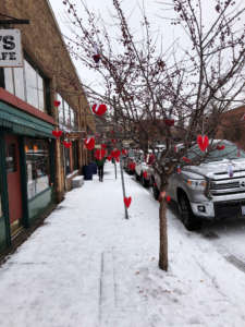 Valentines Day in downtown Bend