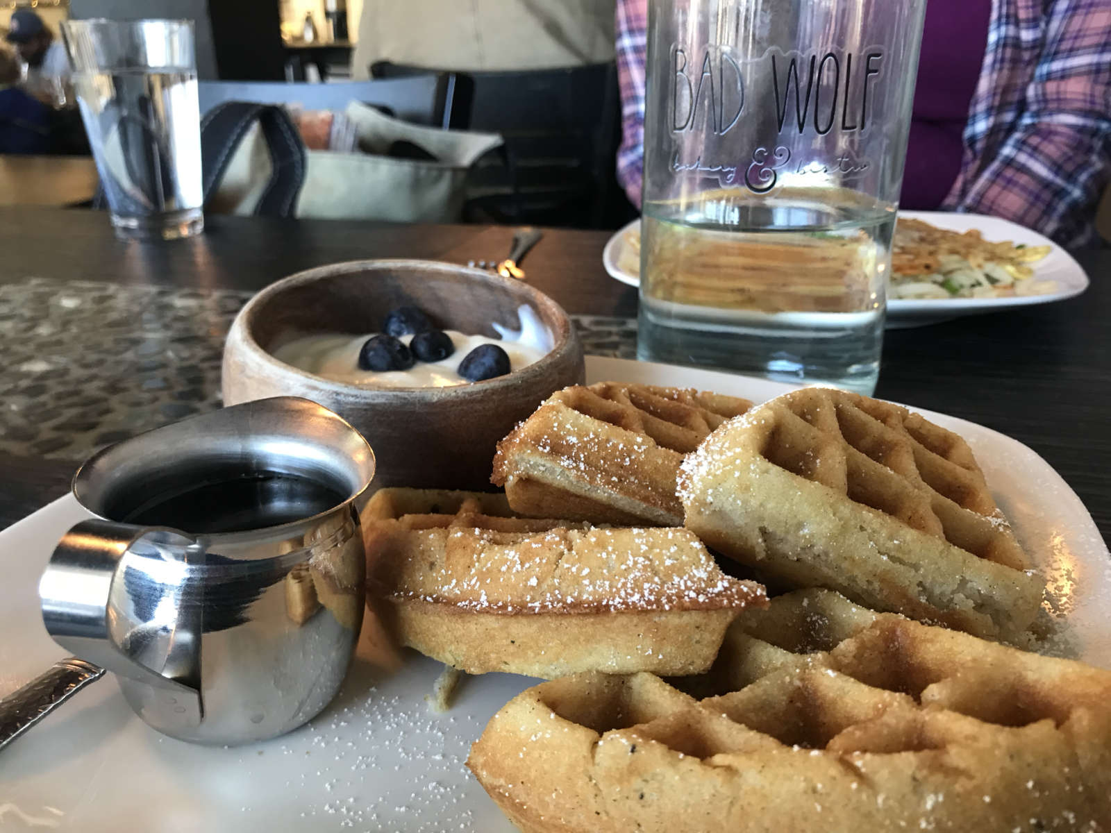 Waffles at Bad Wolf in Bend, Oregon