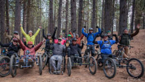 A perfect day in Bend when you're rockin' a wheelchair