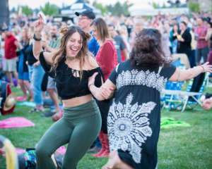 Dancing at the Les Schwab Amphitheater