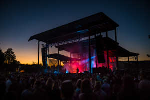 Nighttime concert at Les Schwab Amphitheater