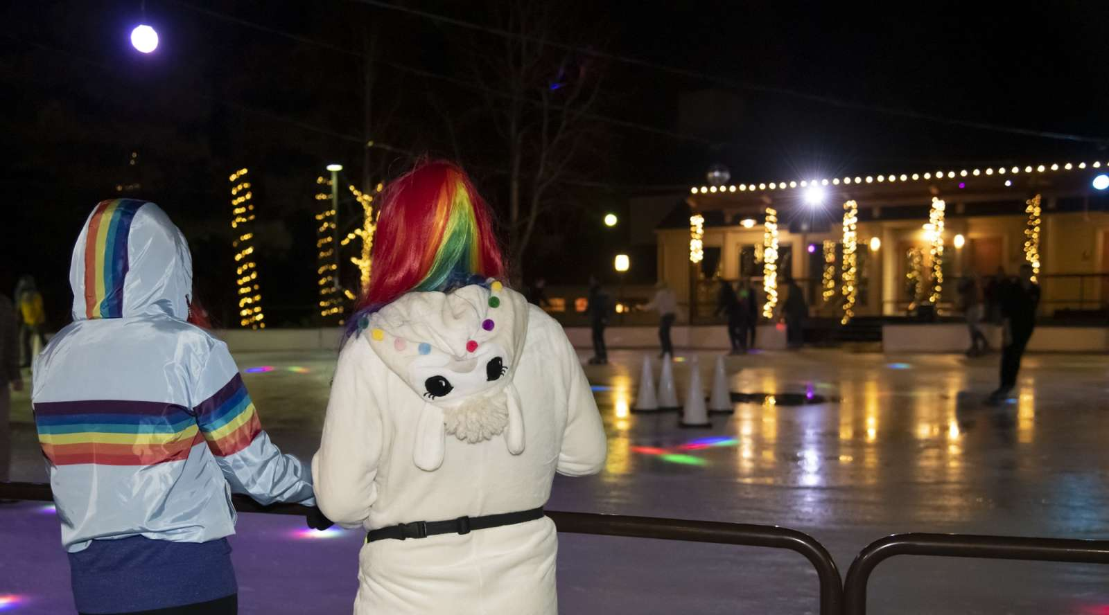 Ice skating at Seventh Mountain for PrideFest