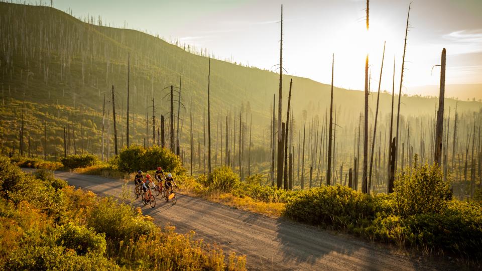 Sherman's March ride on the Cascade Gravel Scenic Bikeway near Bend, Oregon.