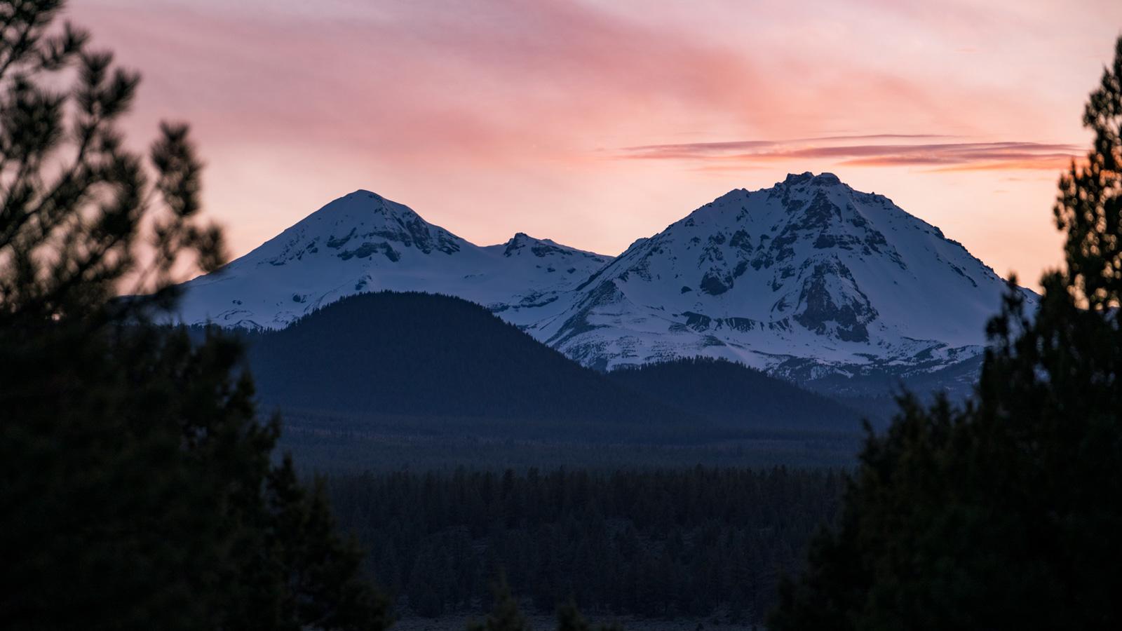 Mountain view outside of Bend, Oregon.