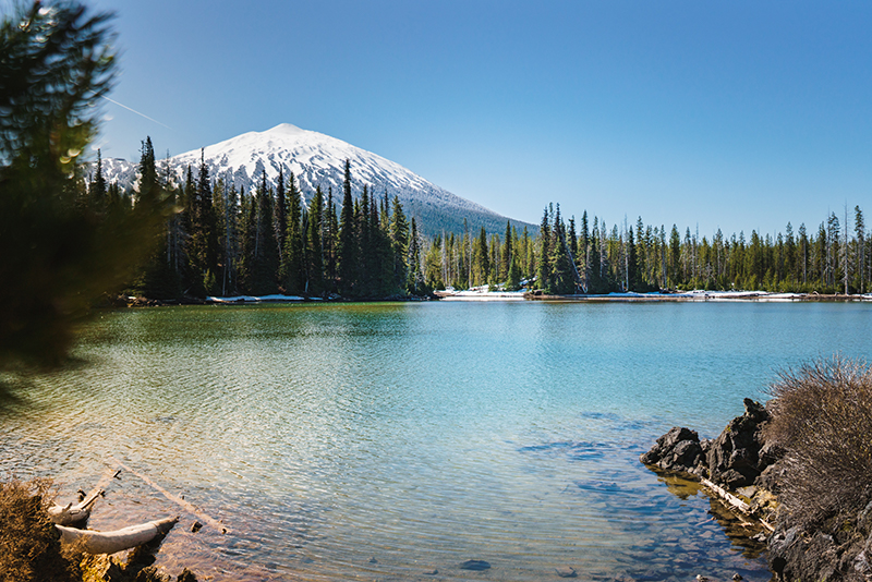 Lake and mountain view outside of Bend, Oregon