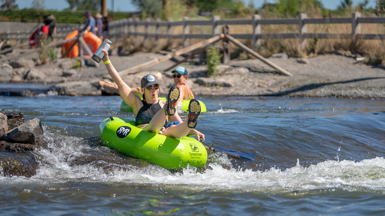 Floating on the Deschutes River in Bend, Oregon