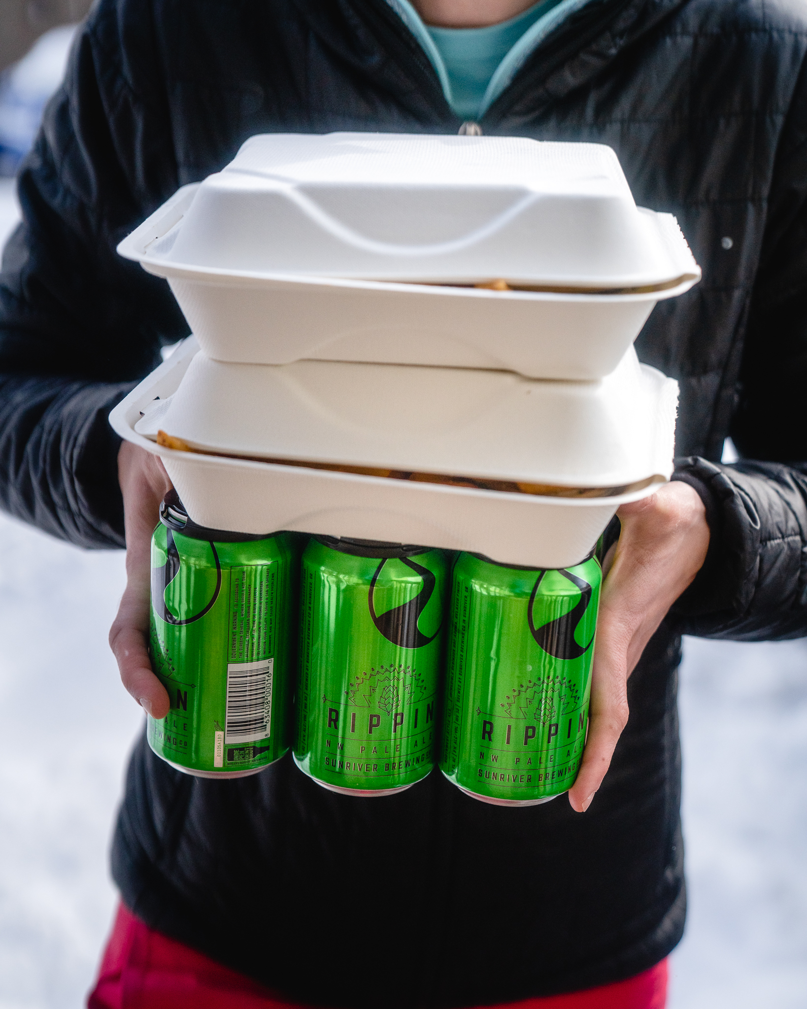 Sunriver Brewing takeout.