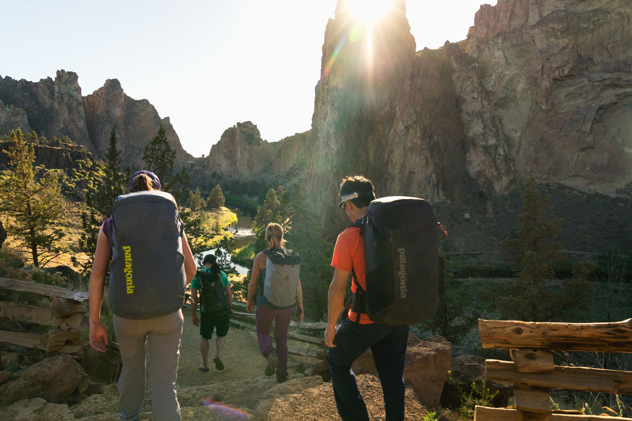 Hiking smith rock