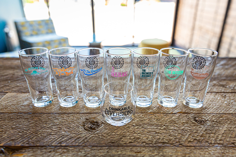 Bend Ale Trail prize glasses